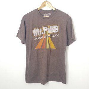 Coca Cola | Mr. Pibb Brown Graphic T-shirt Top M